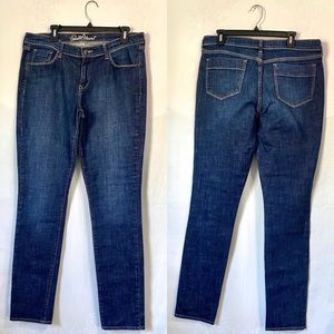 Old Navy dark wash Sweatheart straight jeans 12L
